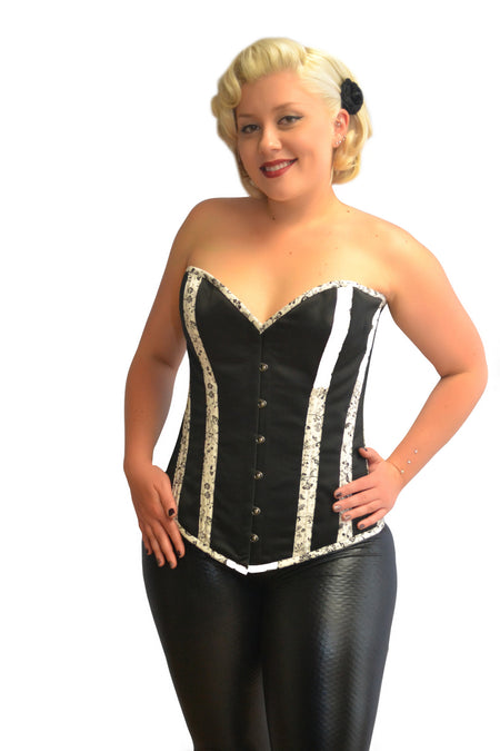 FULL BUST LEATHER PLUS SIZE CORSET JUNE