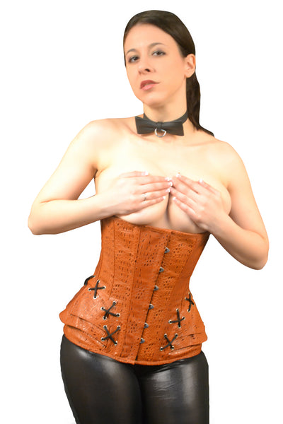 LEATHER UNDERBUST CORSET AUTUMN