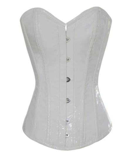 FULL BUST BRIDAL LEAF BROCADE CORSET