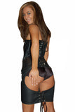 SPANKING SKIRT LEATHER LACE REAR  SKIRT