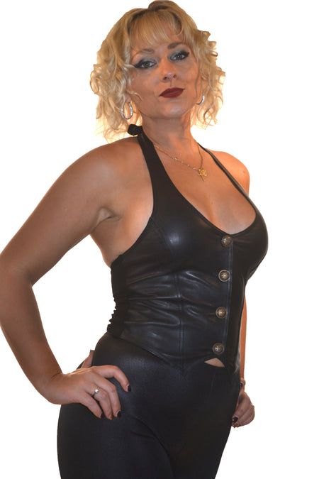 LEATHER DRESS LACE FRONT