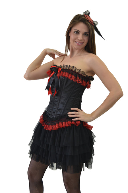 AFTER DARK WITCH BLACK/ORANGE CORSET