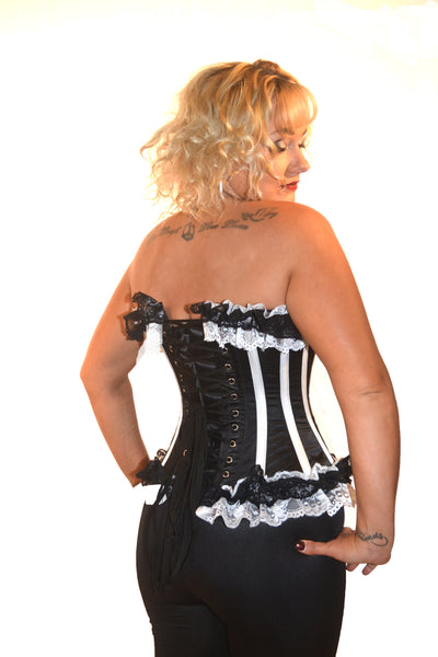 AFTER DARK BLACK/WHITE BUNNY CORSET
