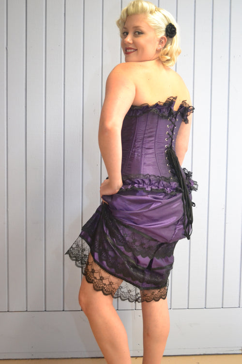 AFTER DARK FULL BUST RUFFLE TOP AND BOTTOM CORSET
