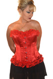 AFTER DARK RED SATIN WITH LACE CORSET