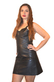 FULL BUST LEATHER FASHION DRESS