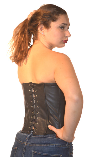 FULL BUST LEATHER FASHION CORSET RIBBON