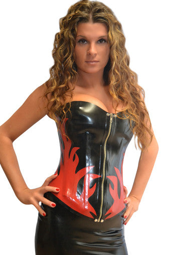 LATEX STUDDED CORSET