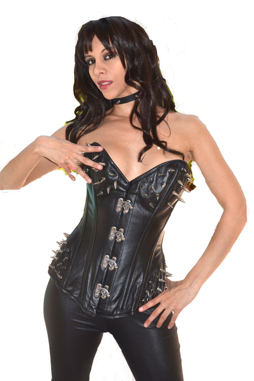 FULL BUST LEATHER CORSET HERA