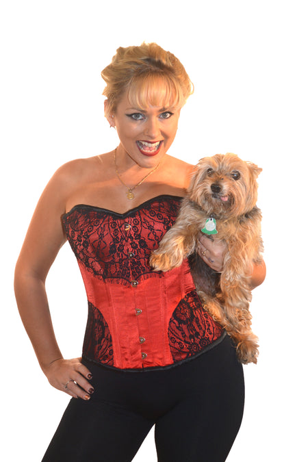 ROMANCE CORSET EVELYN RED