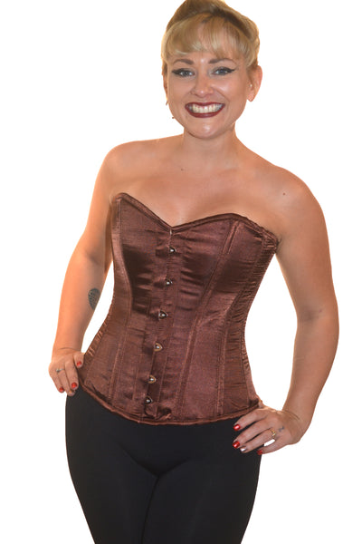 ROMANCE FULL BUST CORSET JANINE - BROWN