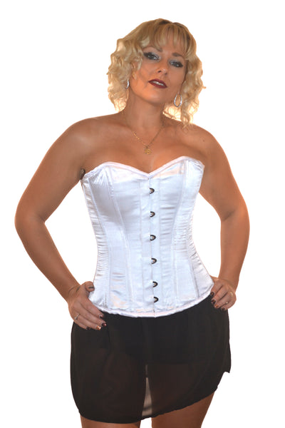 FULL BUST BRIDAL SOLID WHITE ROMANCE CORSET