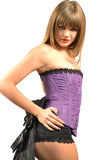 ROMANCE PURPLE BROCADE FULL BUST CORSET