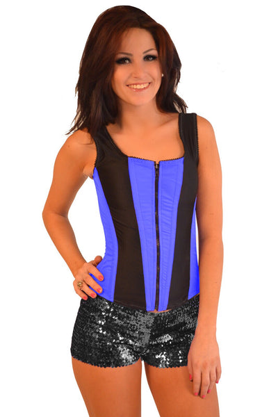 ROMANCE CORSET EVELYN BLUE/BLACK