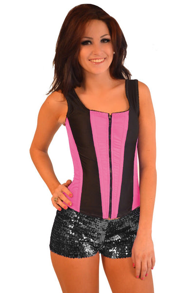 ROMANCE CORSET EVELYN PINK/BLACK