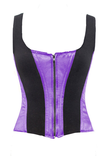 ROMANCE CORSET EVELYN PURPLE/BLACK