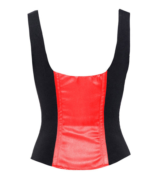 ROMANCE CORSET EVELYN RED/BLACK