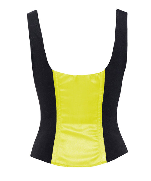 ROMANCE CORSET EVELYN BLACK/YELLOW