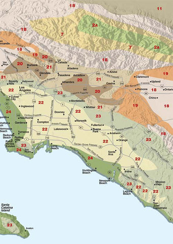 Sunset Los Angeles Climate Zone Map