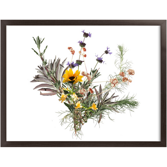 Framed Sage Wash Bouquet Print