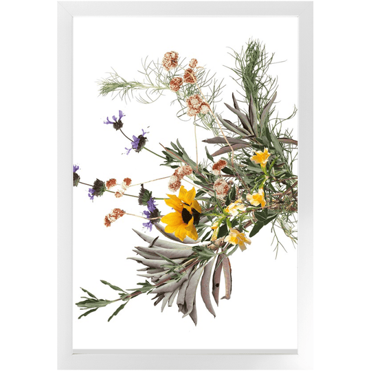 Sideways Sage California Wild Bouquet Framed Print