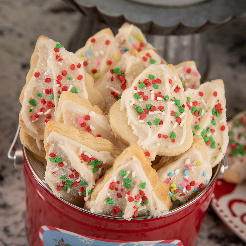 Holiday Iced Butter Cookie Tin