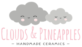 Clouds & Pineapples Custom Cut Logo Stickers
