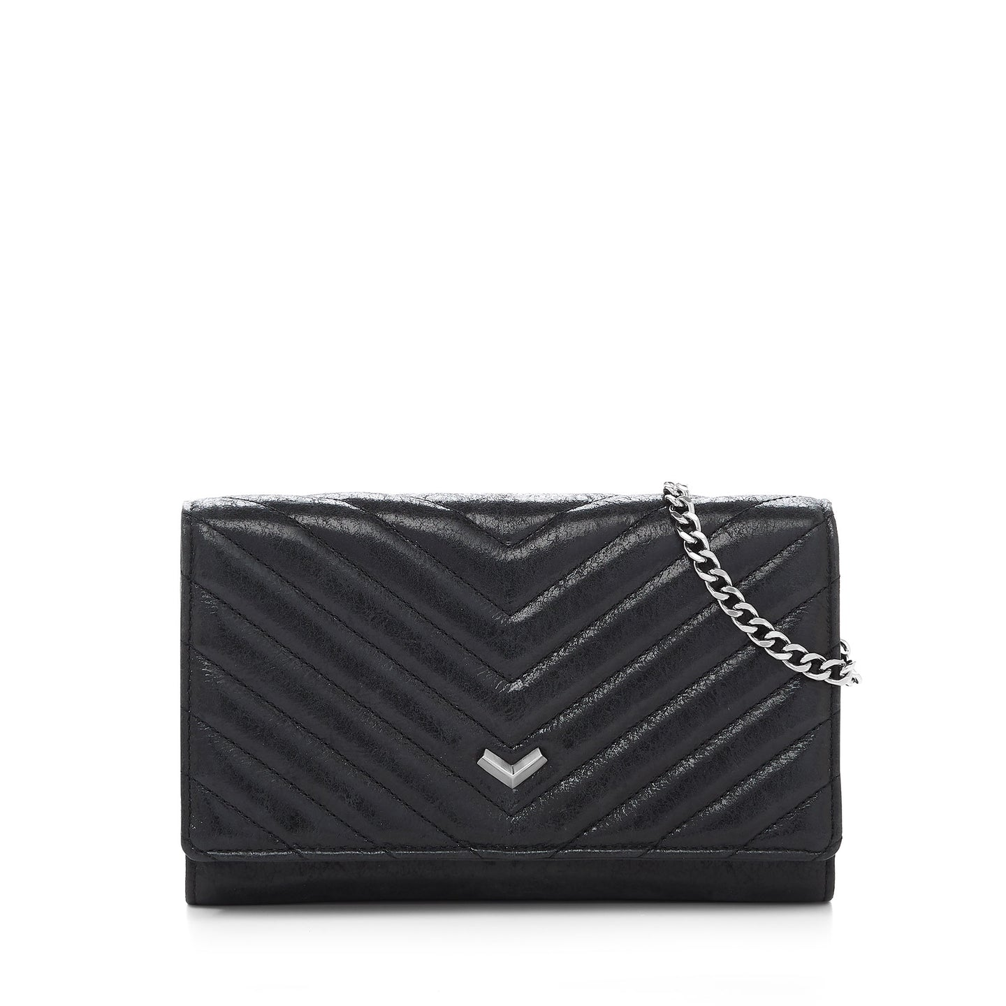 16H152Q-DLBLK botkier soho quilted chain wallet black A