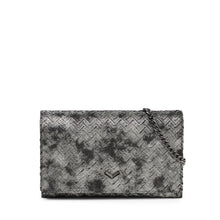 17F152A-PRPWT botkier soho chain wallet pewter weave A
