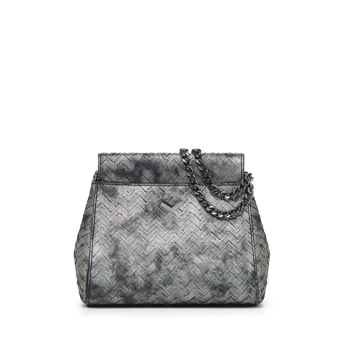 17F152M-PRPWT botkier soho mini chain crossbody pewter weave A