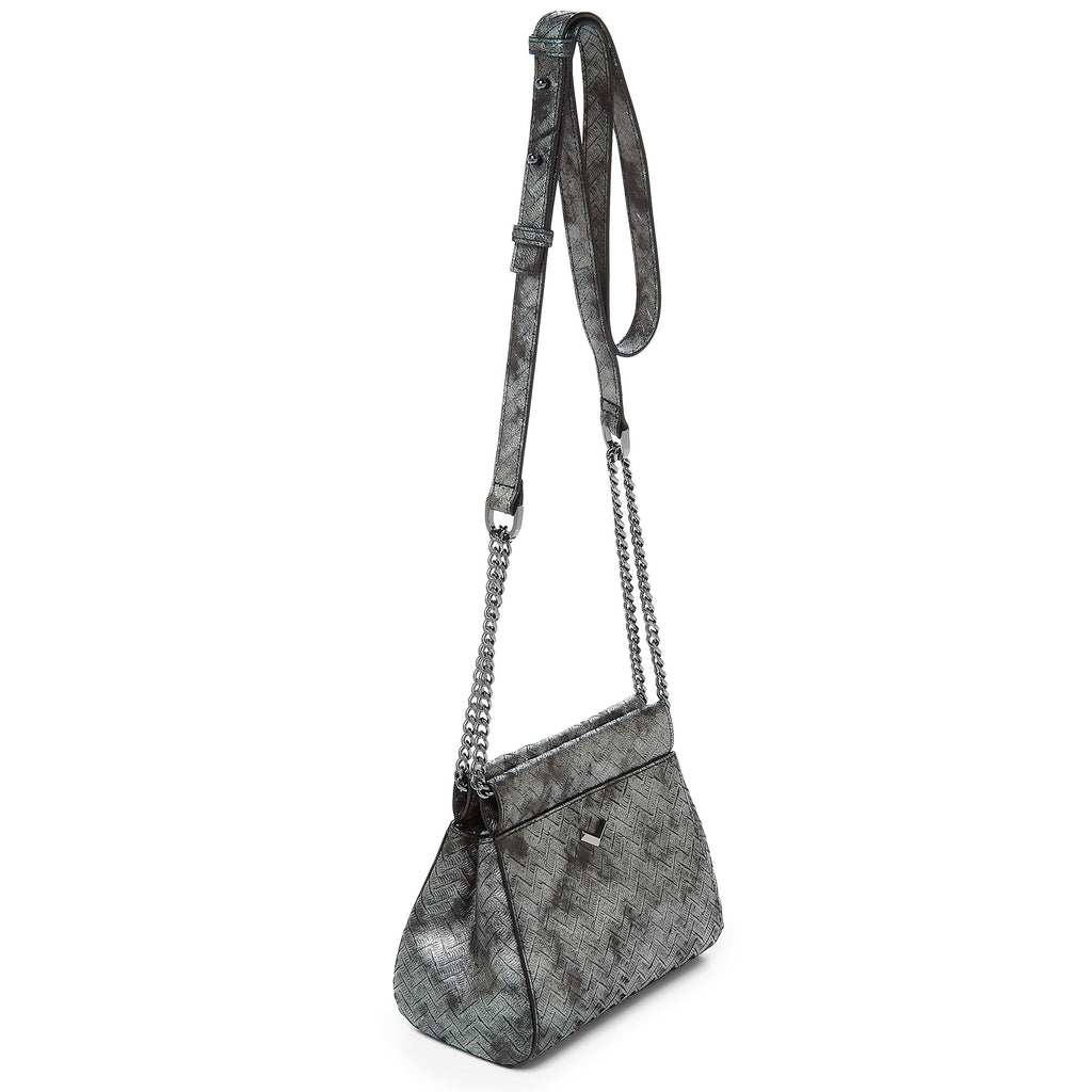 17F152M-PRPWT botkier soho mini chain crossbody pewter weave B