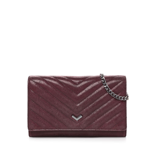 17F152Q-DLWIN botkier soho quilted chain wallet wine A