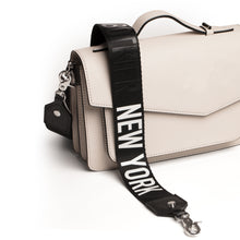 botkier crossbody strap with I heart new year lettering