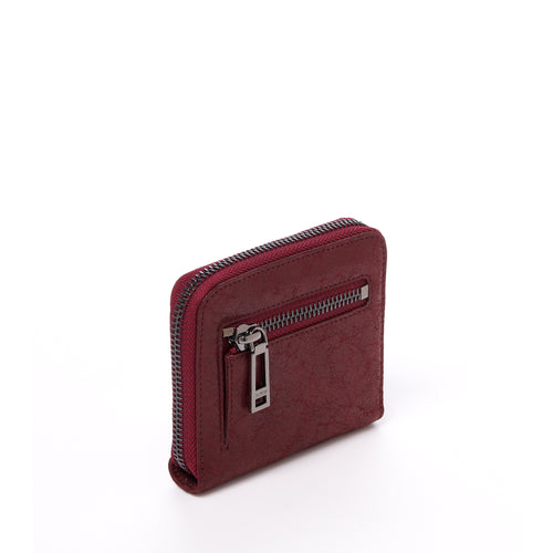 botkier trigger small zip around wallet in bordeaux red Alternate View
