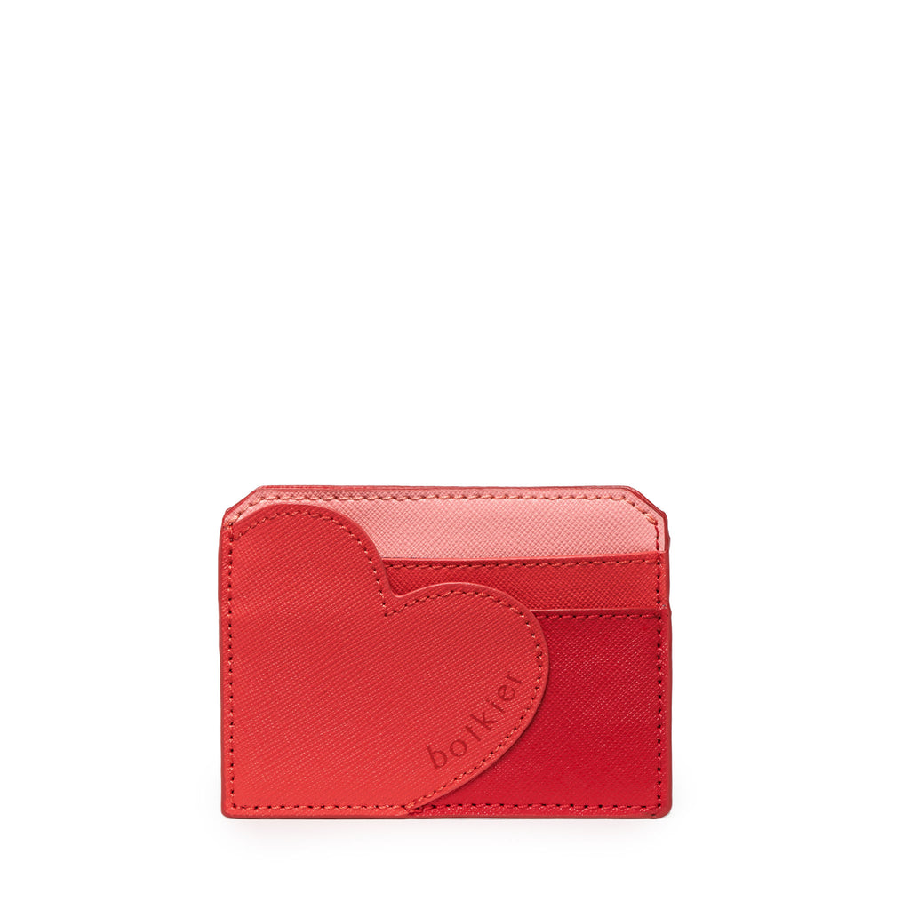 botkier heart card holder in red