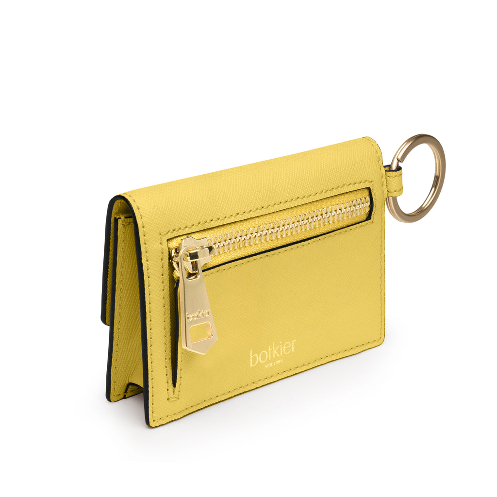 botkier cobble hill card case in pineapple yellow
