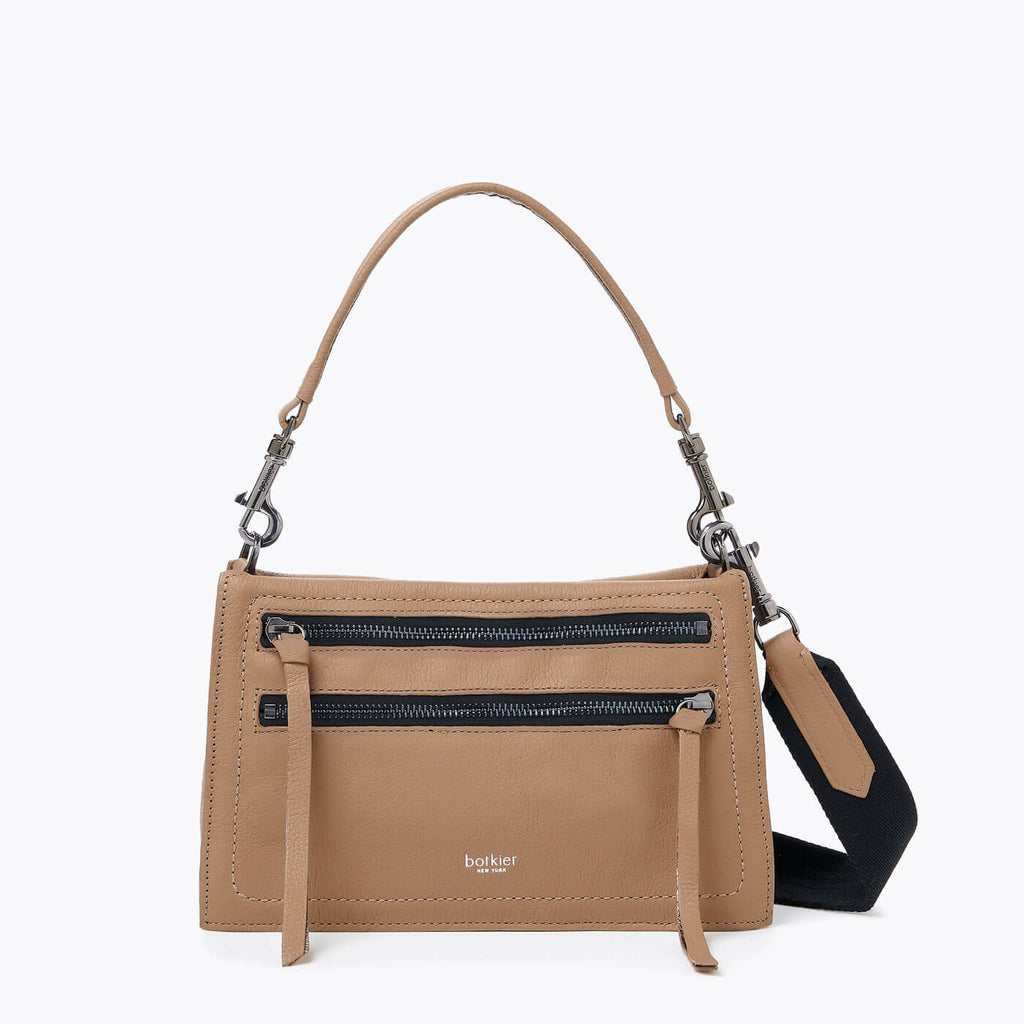 botkier chelsea crossbody shoulder bag in hazelnut brown