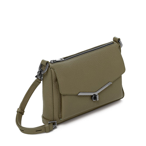 valentina front clap crossbody in army green   Alternate View