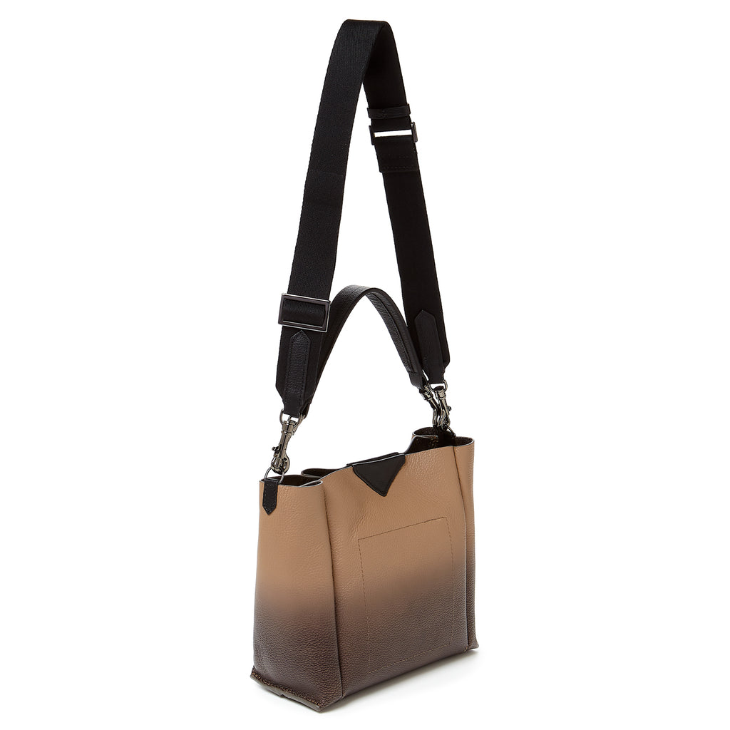 botkier allen top handle bucket in hazelnut brown