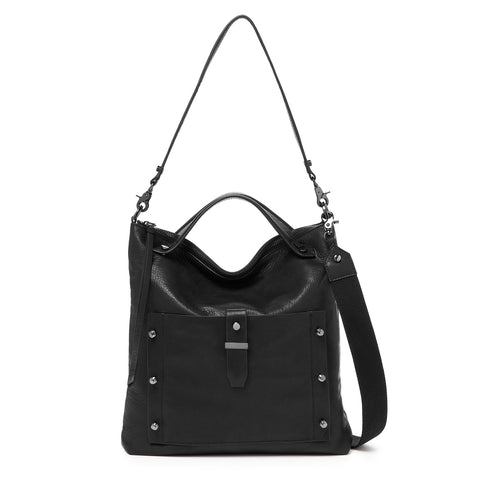 botkier warren hobo in black with additonal cotton web strap