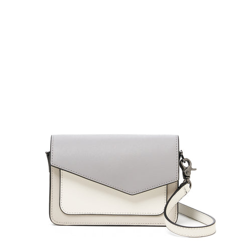 botkier cobble hill mini crossbody dove colorblock front