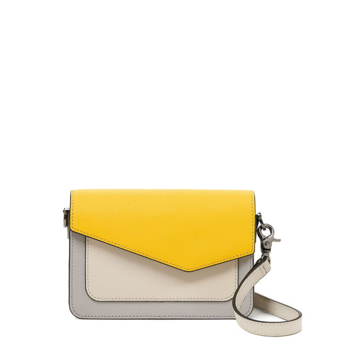 botkier cobble hill mini crossbody marigold pop front
