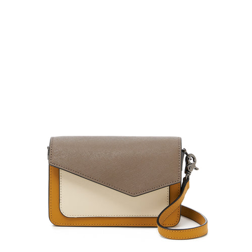 botkier cobble hill mini crossbody truffle colorblock front