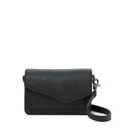 botkier cobble hill mini crossbody black front