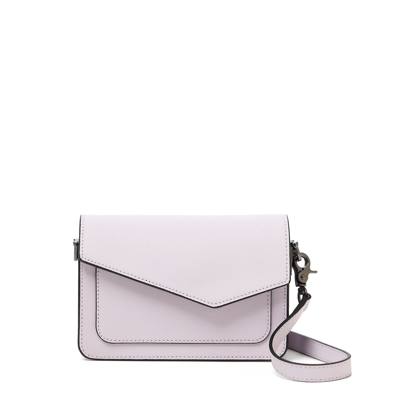 botkier cobble hill mini crossbody lavender front