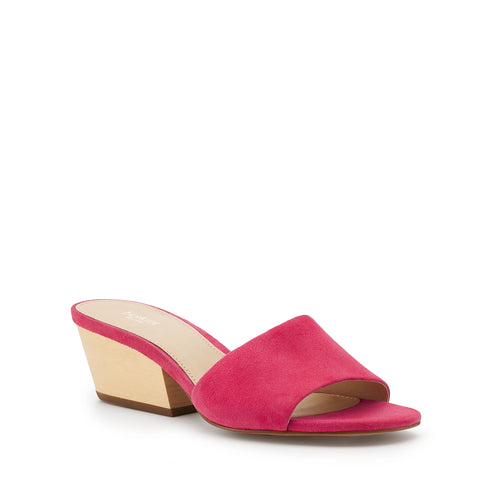 botkier carlie wood low heel slip on sandal mule in azalea pink Alternate View