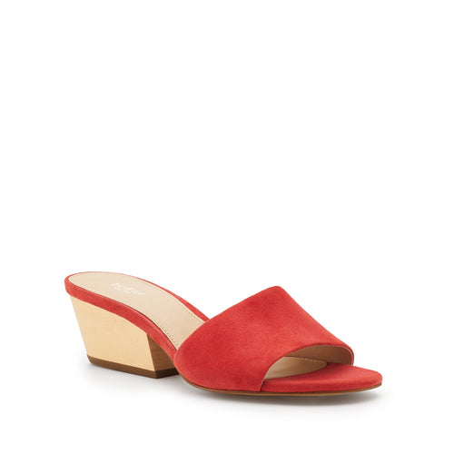 botkier carlie wood low heel slip on sandal mule in coral orange Alternate View