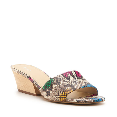 botkier carlie wood low heel slip on sandal mule in snake print Alternate View