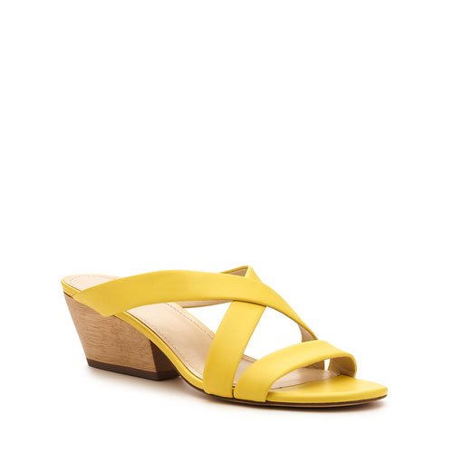 botkier cecile wood low heel strappy slide sandal in sunburst yellow Alternate View