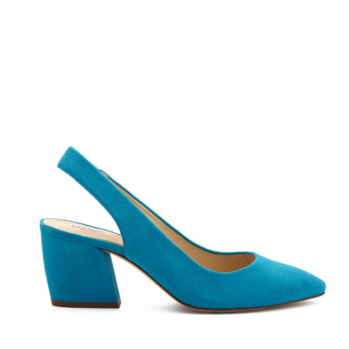 botkier shayla slingback almond toe low heel pump in paradise blue